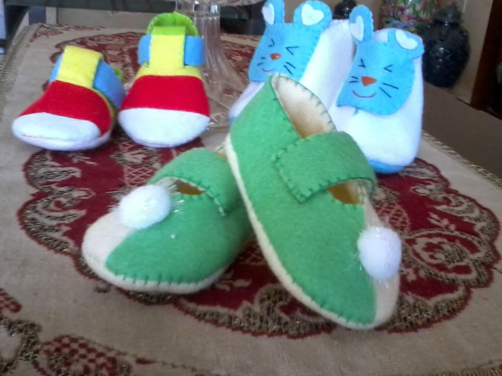 Cara Membuat Sepatu Bayi dari Kain Perca...